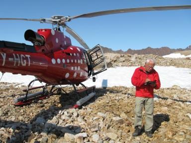 Fieldwork near Kangerlussuaq 2009
